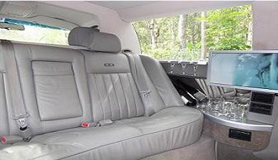 Interior of our luxury, affordable limo